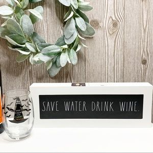 NWT🍷Rae Dunn SAVE WATER DRINK WINE Sign